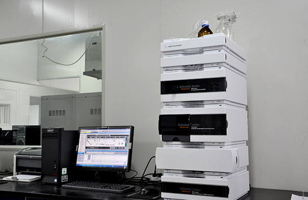 HPLC to analyse the main Active Ingredients